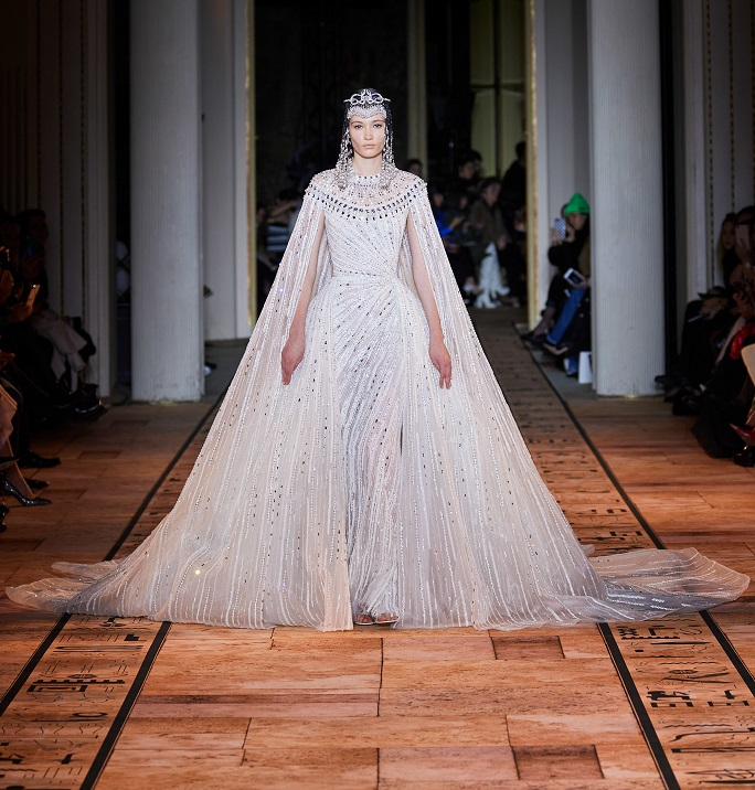 In Pictures Ancient Egypt Inspired Zuhair Murad S Couture Spring 2020 Collection Cairo 360 Guide To Cairo Egypt