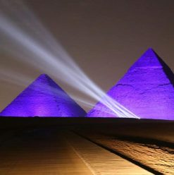 Pyramids Light Up in Celebration of World Heritage Day